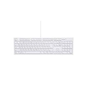 (まとめ)バッファロー USB接続 有線キーボードMacモデル ホワイト BSKBM01WH 1台【×2セット】
