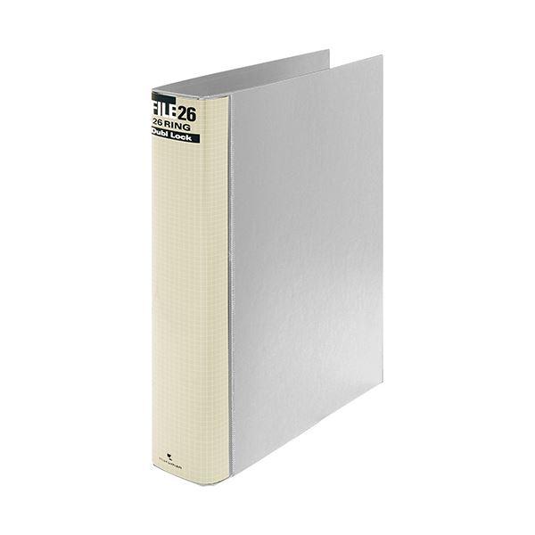 (まとめ) マルマン ダブロックファイル B5タテ 26穴 250枚収容 背幅44mm グレー F679R-11 1冊 【×10セット】