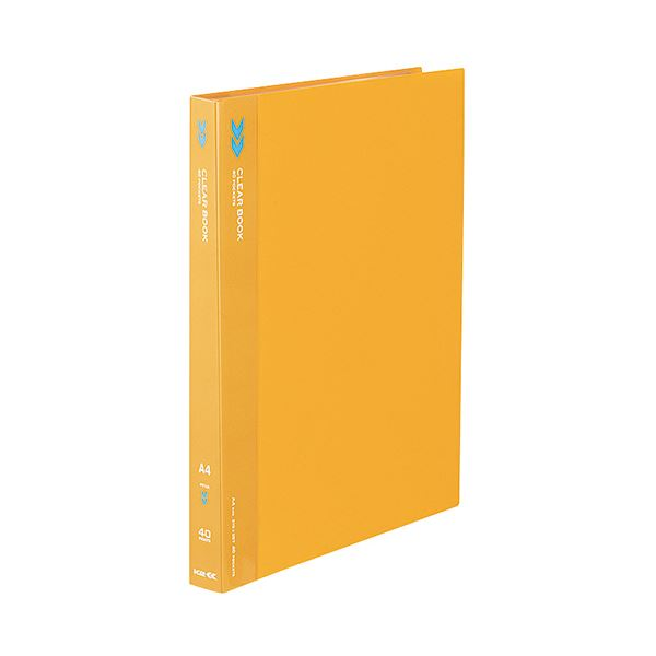 (まとめ) コクヨ クリヤーブック(クリアブック)(K2)固定式 A4タテ 40ポケット 背幅25mm 中紙なし オレンジ K2ラ-K40YR 1冊 【×30セット】