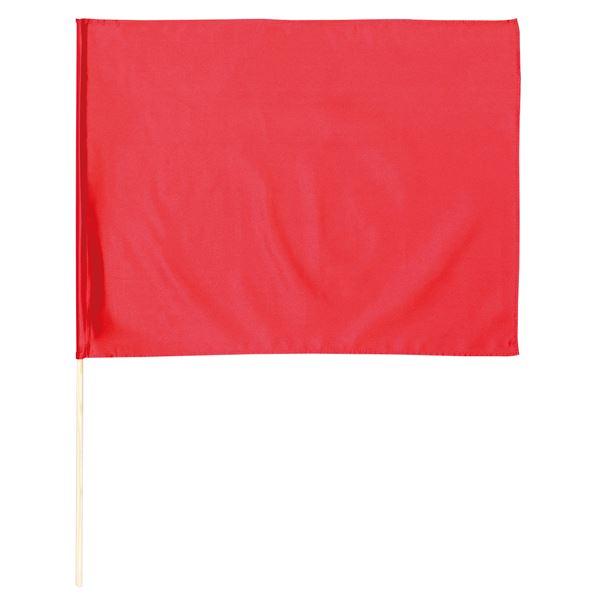 (まとめ)サテン大旗 メタリックレッド φ12mm 【×10個セット】 赤