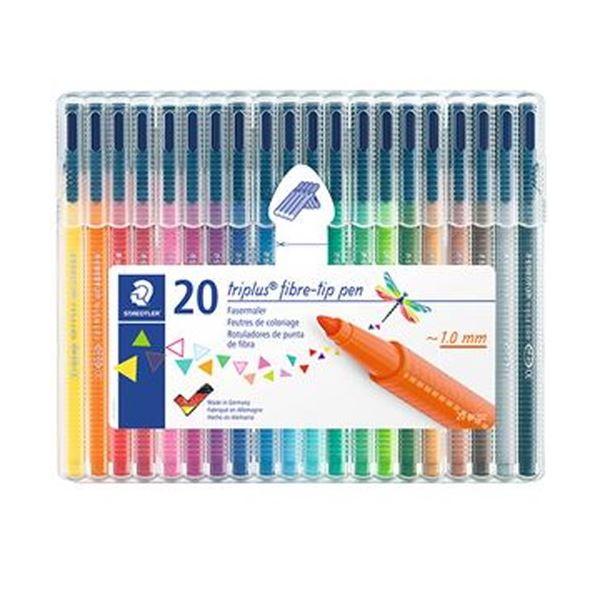 (まとめ)ステッドラー トリプラス カラーペン20色セット 323SB20 1パック【×10セット】