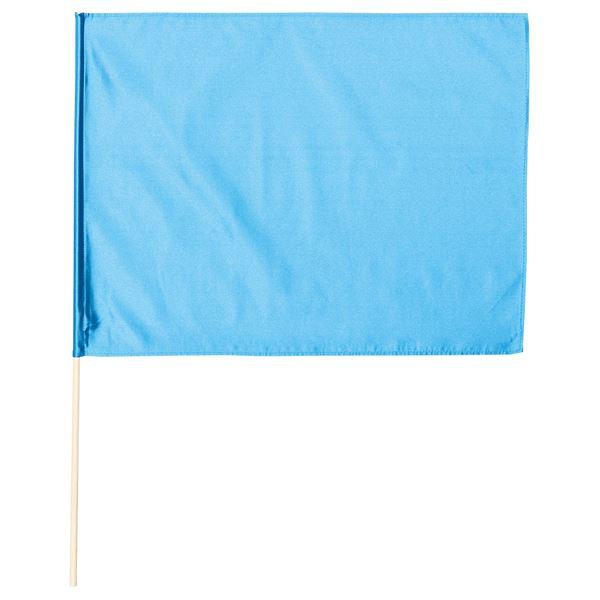 (まとめ)サテン大旗 メタリックブルー φ12mm 【×10個セット】 青