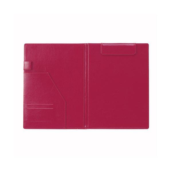 (まとめ) セキセイ ベルポスト クリップボード 二つ折りタイプ ワインレッド【×5セット】 赤