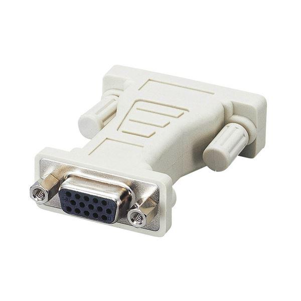 (まとめ) DVI-I変換アダプタ(ミニD-Sub15pin)メス-(DVI-I29pin)オス AD-D15FTDVM 1個 【×10セット】