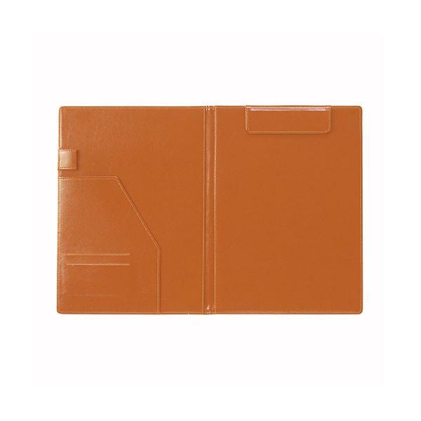 (まとめ) セキセイ ベルポスト クリップボード 二つ折りタイプ ブラックオレンジ【×5セット】 黒