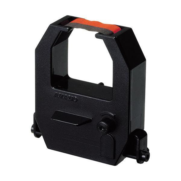 (まとめ) アマノ タイムレコーダー用インクリボンカセット 黒・赤 CE315250 1個 【×5セット】