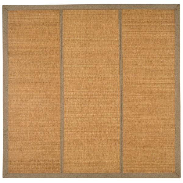 竹ラグ/ラグマット 【約180cm×240cm ベージュ】 長方形 表面:竹100% 折りたたみ収納可 『カナパ2』 〔リビング ダイニング〕