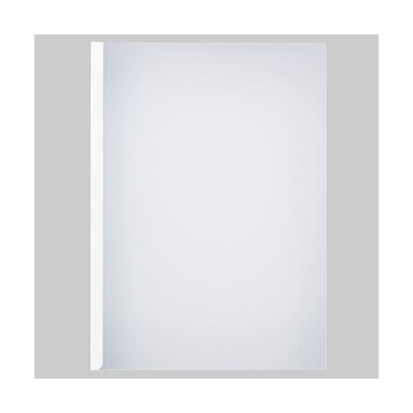 (まとめ) TANOSEE 薄型スリムレールホルダーA4タテ 10枚とじ 白 1パック(30冊) 【×10セット】