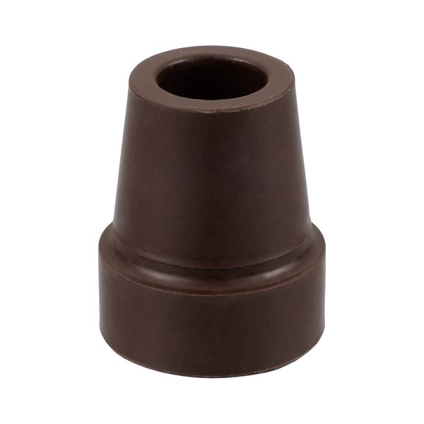 (まとめ)ナカバヤシ RQステッキエコノミータイプ 折りたたみステッキ専用つえ先ゴム L ブラウン RQS-GM1BR 1個【×20セット】 茶