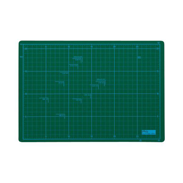 (まとめ) TANOSEE カッターマット A4 225×320mm 1枚 【×10セット】
