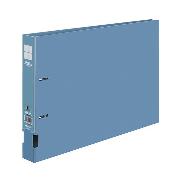 コクヨ DリングファイルE型再生PP表紙 B4ヨコ 2穴 300枚収容 背幅45mm 青 フ-FD439NB 1セット(10冊)