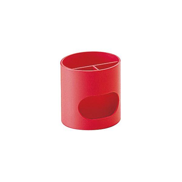(まとめ) プラス ペンスタンド レッドWP-110N 1個 【×10セット】 赤