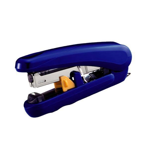(まとめ) プラス フラットクリンチステープラーピタヒット 20枚とじ ブルー ST-010X 1個 【×50セット】 青