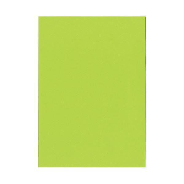 (まとめ)北越コーポレーション 紀州の色上質A4T目 薄口 みどり 1冊(500枚) 【×2セット】