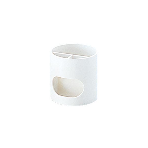 (まとめ) プラス ペンスタンド ホワイトWP-110N 1個 【×10セット】 白