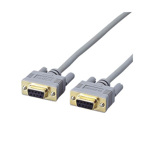 (まとめ) RS-232Cケーブル 配線 (ノーマル) D-Sub9pinメス 1.5m C232N-915 1本 【×10セット】