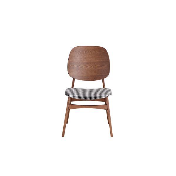 北欧風 ダイニングチェア/食卓椅子 【ブラウン】 幅51cm 木製 『バルド』 【組立品】 〔リビング〕 茶