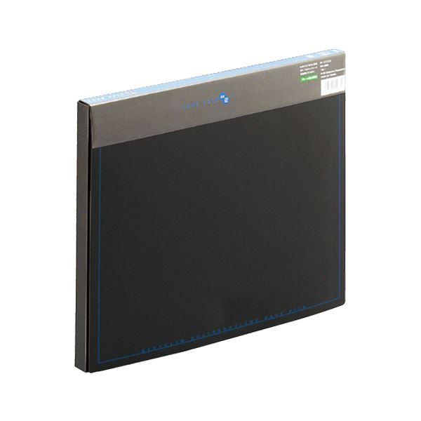(まとめ)プラス ケースファイル 再生PP A4背幅20mm ブラック(背見出し色ブルー) FL-131CE 1冊 【×20セット】