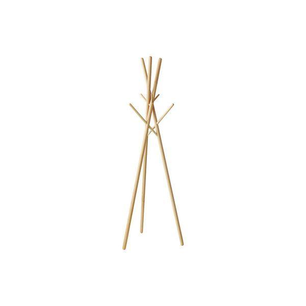 北欧風 ハンガーラック/コートハンガー 【ナチュラル】 幅57.5cm 木製 〔寝室 ベッドルーム リビング 玄関〕
