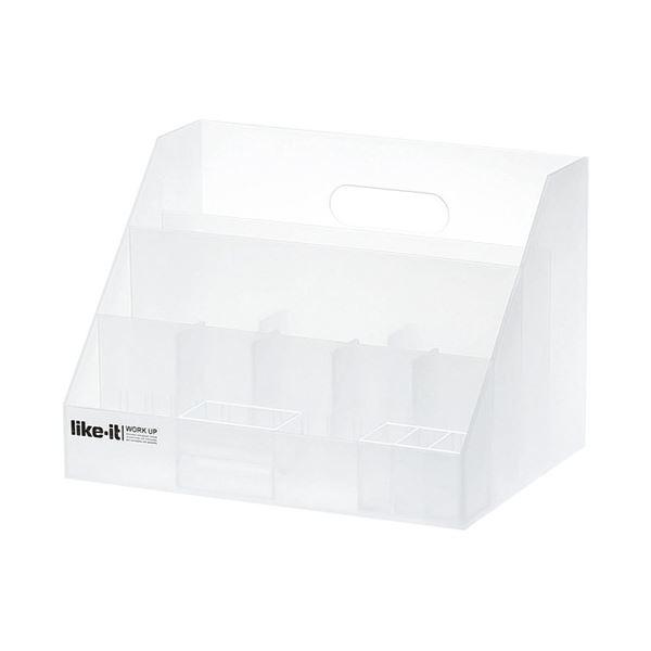 ホワイト 白 訳あり 生活用品 インテリア 雑貨 海外限定 家具 オフィス家具 オフィス収納 WH ×30セット ライクイット A4オーガナイザースリムLM-02 まとめ