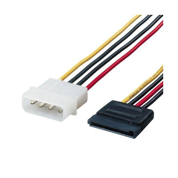 (まとめ) シリアルATA電源変換ケーブル 配線 SATA電源コネクタ15-ノーマル4ピン 0.5m CFD-SAT2P05 1本 【×10セット】