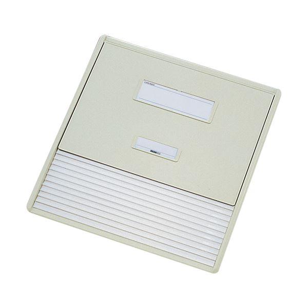 リヒトラブ カラーカードインデックスA3(A4タテ2面)11ポケット オフホワイト HC113C-1 1冊 白