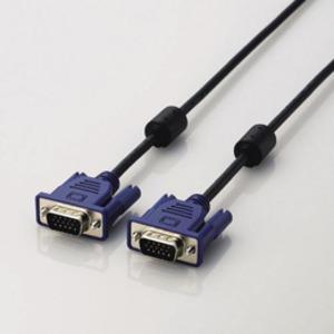 AV デジモノ パソコン 周辺機器 ケーブル ケーブルカバー その他のケーブル ケーブルカバー 5個セット エレコム D-Sub15ピン(ミニ)ケーブル CAC-50BKX5