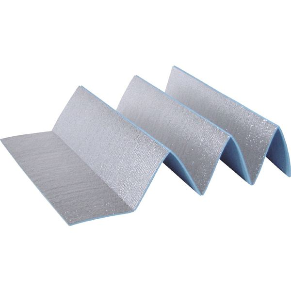 (まとめ)折りたたみ式アルミレジャーマット グランドエイト ワイド U-P846 【16個セット】