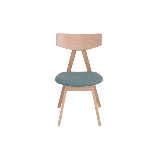 ダイニングチェア/食卓椅子 【ブルー】 幅463mm 『ピン』 【組立品】 〔リビング ダイニング 居間 店舗〕 青