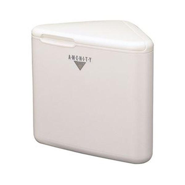(まとめ)山崎産業 L・トイレコーナー AL三角型ホワイト TE-12Z-PC 1個【×10セット】 白