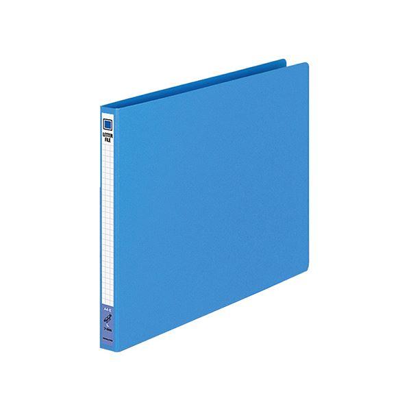 (まとめ) コクヨ レターファイル(色厚板紙) A4ヨコ 120枚収容 背幅20mm 青 フ-555B 1冊 【×30セット】