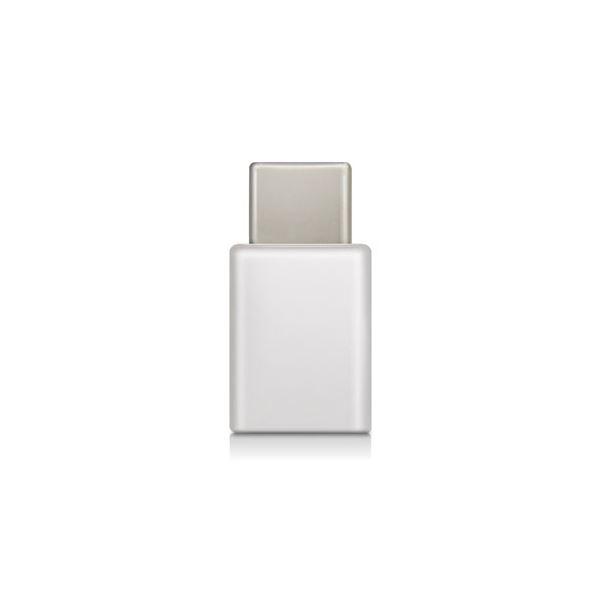 (まとめ) スマートフォン用USB変換アダプタ/USB(microBメス)-USB(Cオス)/ホワイト MPA-MBFCMADNWH【×5セット】 白