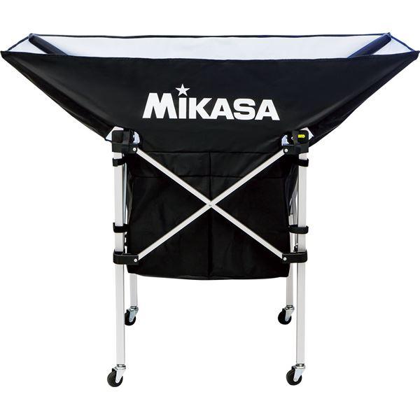 MIKASA(ミカサ)【フレーム・幕体・キャリーケース3点セット】携帯用折り畳み式ボールカゴ(舟型) ブラック【ACBC210BK】 黒