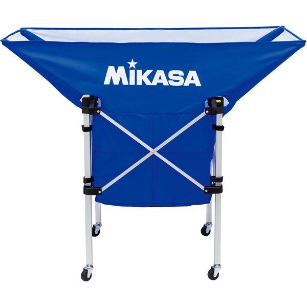 MIKASA(ミカサ)【フレーム・幕体・キャリーケース3点セット】携帯用折り畳み式ボールカゴ(舟型) ブルー【ACBC210BL】 青
