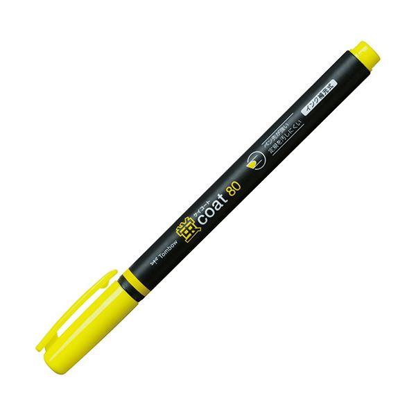 (まとめ) トンボ鉛筆 蛍コート80 きいろWA-SC91 1セット(10本) 【×10セット】
