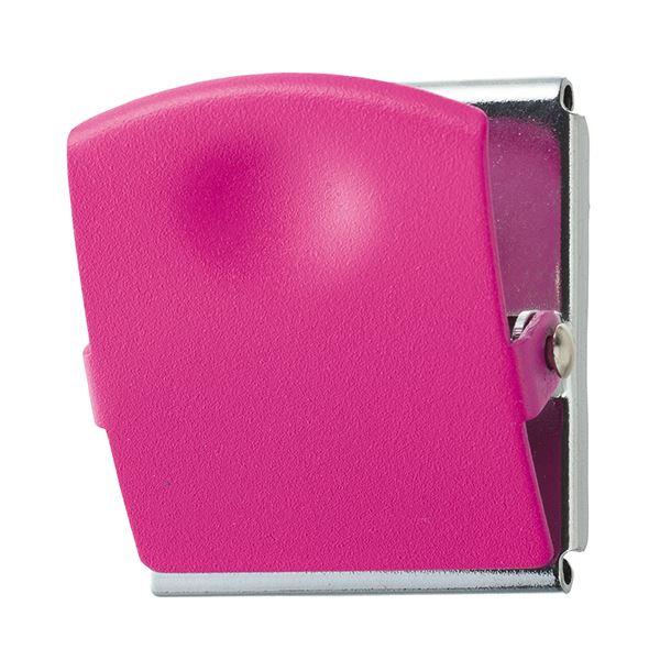 (まとめ) TANOSEE 超強力マグネットクリップL ピンク 1個 【×30セット】