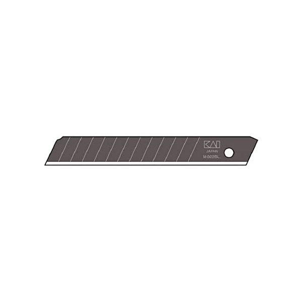 (まとめ) 貝印カミソリ 黒替刃中薄 BM-501ケース(50枚) 【×10セット】