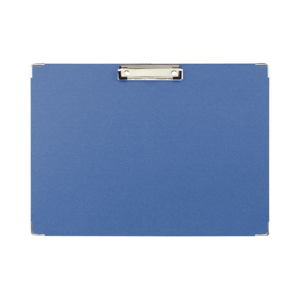 TANOSEE 用箋挟 A3ヨコ ブルー1セット(20枚) 青