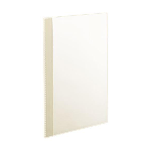 (まとめ)TANOSEE薄型クリアブック(角まる) A4タテ 5ポケット クリア 1セット(50冊:5冊×10パック) 【×2セット】