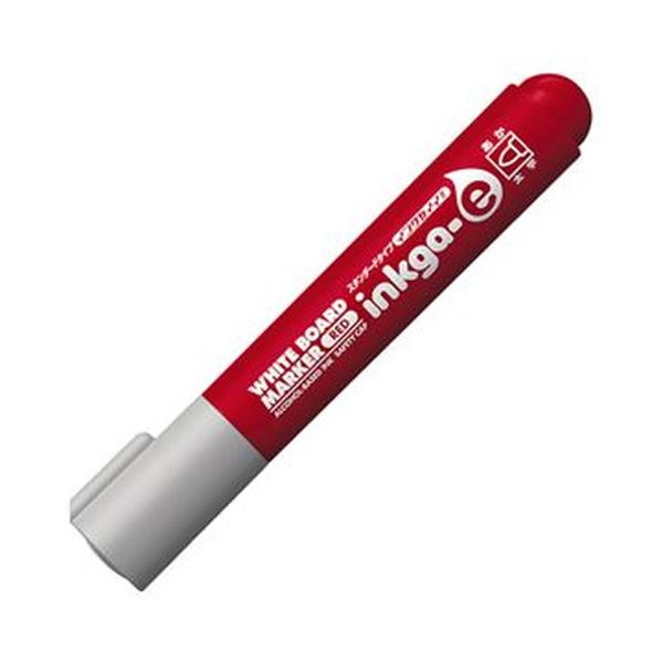 (まとめ)コクヨ ホワイトボードマーカーインクガイイ スタンダードタイプ 太字 赤 PM-BN103R 1セット(10本)【×10セット】 白