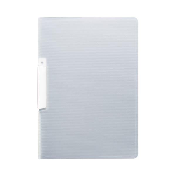 (まとめ) TANOSEE スライドクリップファイルA4タテ 白 1セット(20冊) 【×10セット】