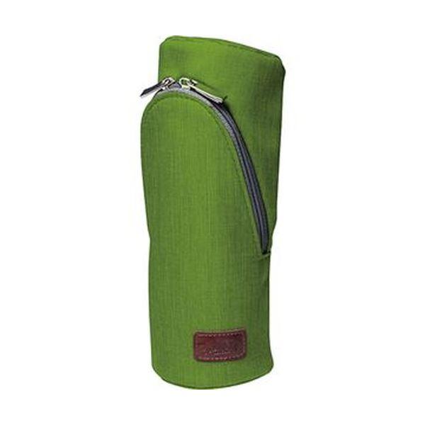 (まとめ)ソニック スマ・スタ カーム立つペンケース グリーン FD-1607-G 1個【×10セット】 緑