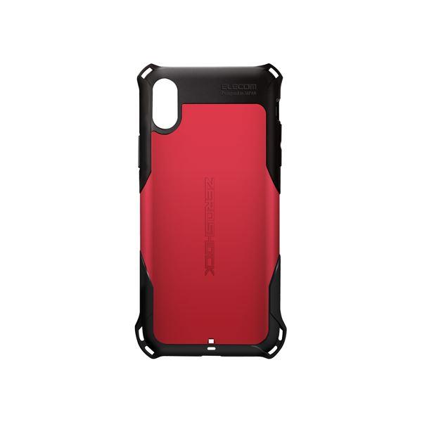 iPhone XS/ZEROSHOCK/スタンダード/レッド PM-A18BZERORD 赤