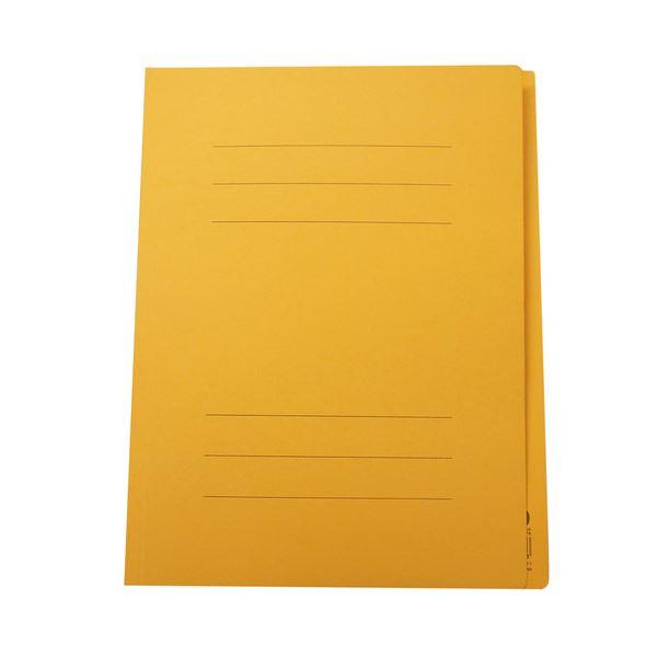 (まとめ) フラットファイルJ A4タテ150枚収容 背幅18mm イエロー フF-J80Y 1セット(100冊)【×3セット】 黄