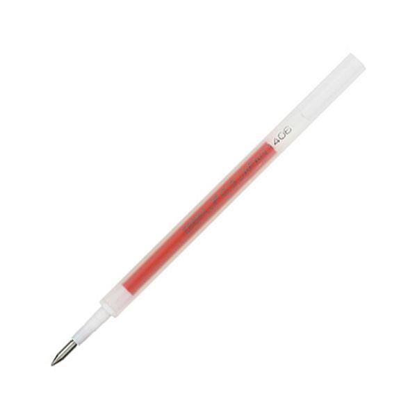 (まとめ) ゼブラ ゲルインクボールペン替芯 JF-0.3芯 赤 RJF3-R 1セット(10本) 【×10セット】