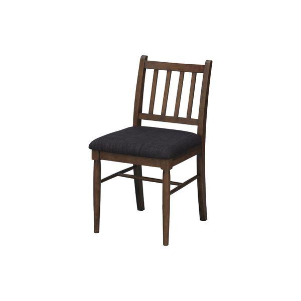 ダイニングチェア/食卓椅子 2脚セット 【幅42cm】 ラッカー塗装 ポリエステル 〔キッチン 台所 リビング 店舗〕