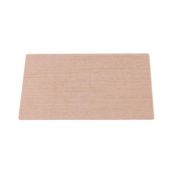 (まとめ)TANOSEE 木目調下敷付ダブルマット1390×690mm 1枚【×3セット】