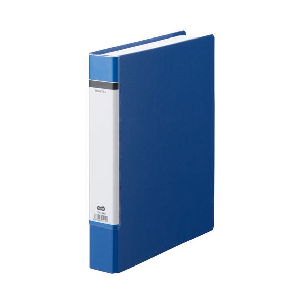 (まとめ) TANOSEE Oリングファイル(貼り表紙) A4タテ 2穴 330枚収容 背幅53mm 青 1冊 【×30セット】