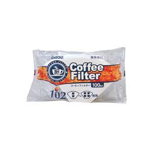 (まとめ) 日本デキシー コーヒーフィルター102漂白 2~4杯用 KOTB02CN 1パック(100枚) 【×50セット】