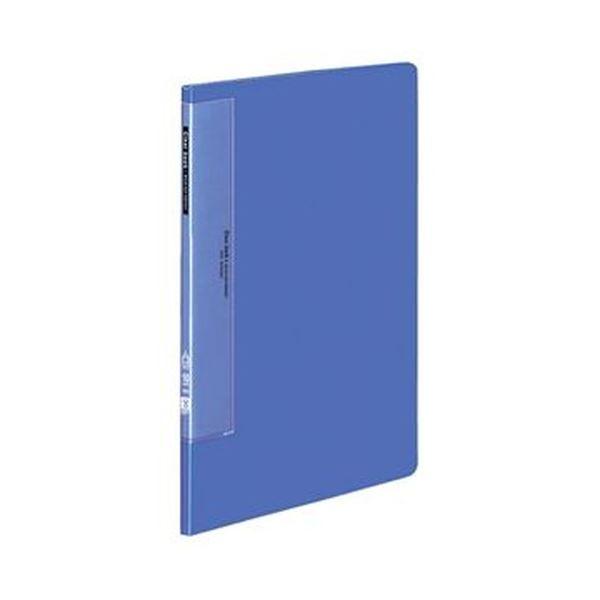 (まとめ)コクヨ クリヤーブック(ウェーブカットポケット・固定式)A4タテ 10ポケット 背幅10mm 青 ラ-T550B 1セット(10冊)【×3セット】